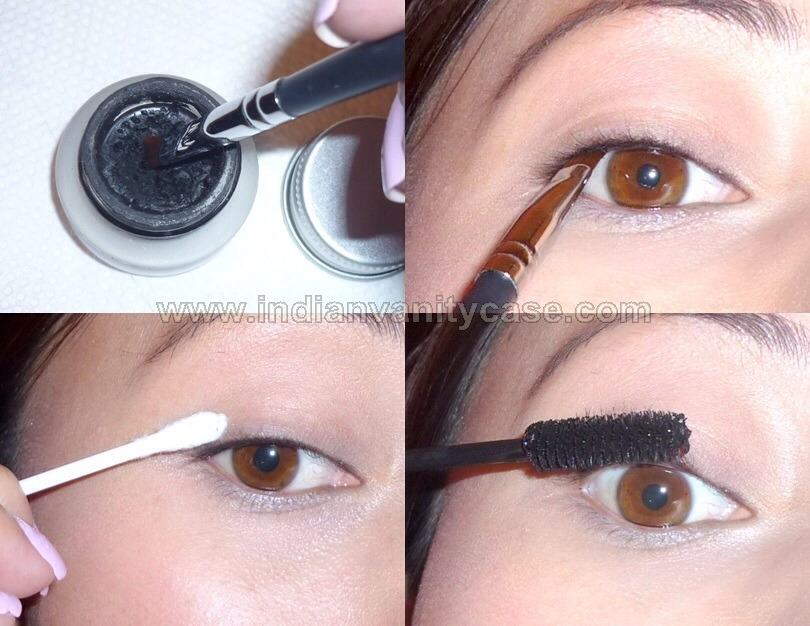 Put eyeliner in the inner line closest you your eye lashes