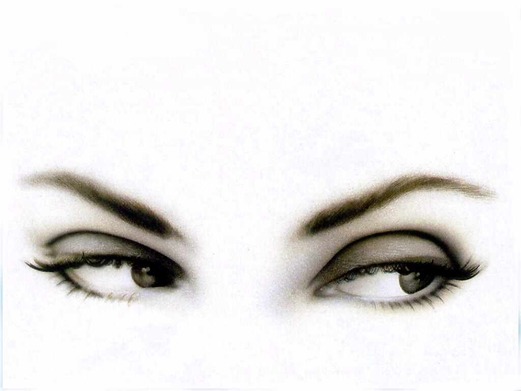 If you have small eyes draw a line from the center of the upper lash line to the outer rim with wings the line the outer third corner of your bottom lash-line connecting to the line you just made. This will make your eyes look bigger.