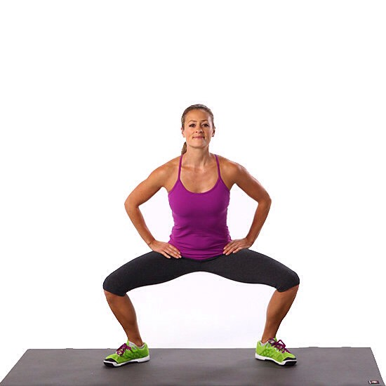 30 second squat pulses