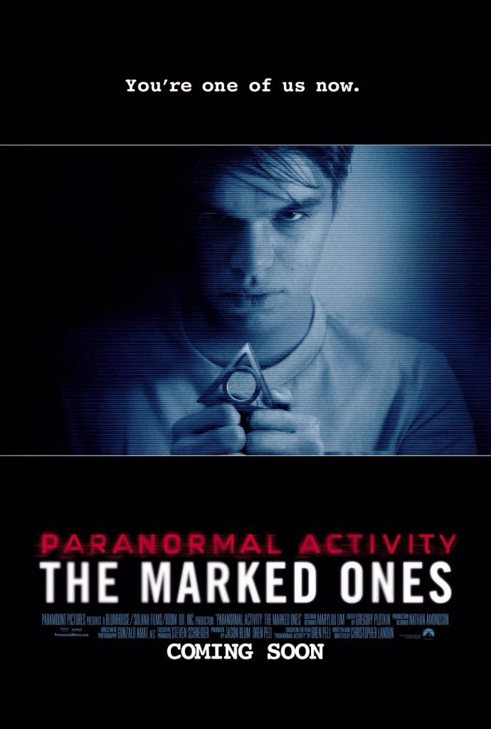 11.) paranormal activity the marked ones, very good but it won't make any sense unless you watch paranormal activity 1-4. It will make a lot more sense if you do this