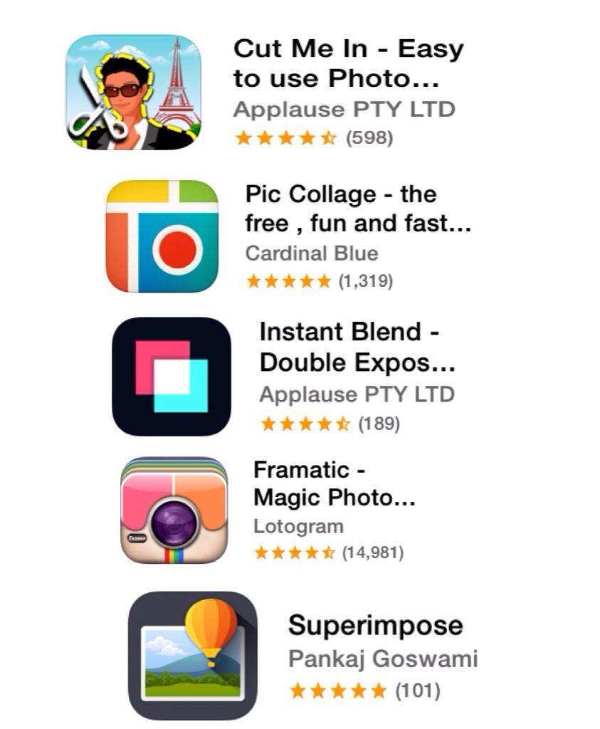 Photo shop apps