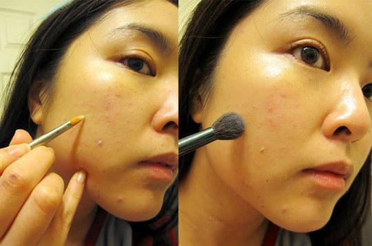 16. In fact, it's best to use a clean concealer brush to apply instead of your fingers.