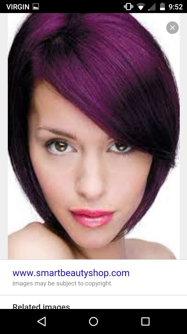 For those of you women with #shorthair , you can rock purple too!
