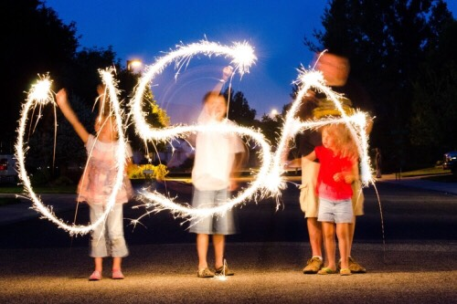 Sparklers are always a fun source of entertainment.