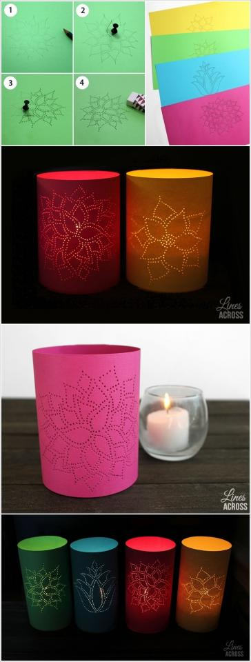 carve or make small wholes in a pattern and cover around any candle holder for amazing effect, Use any good quality paper