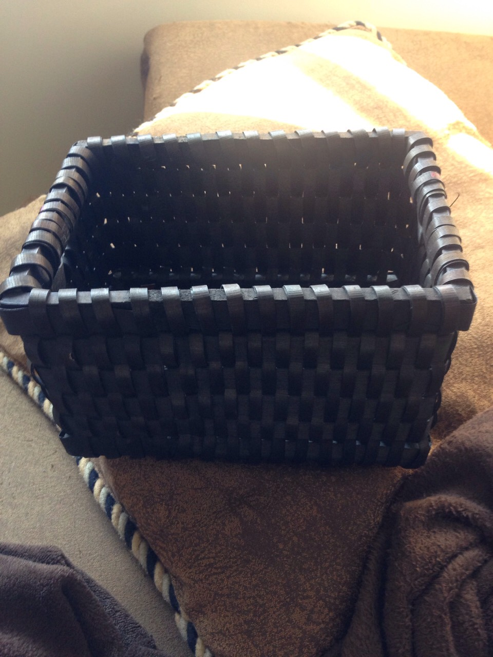 Take your basket. I used a wicker one from Walmart.