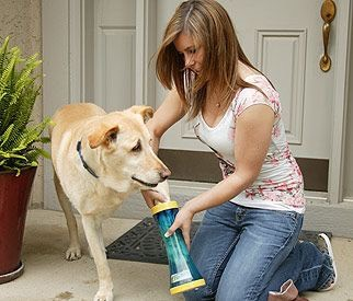 24.The Paw Wash The Paw Wash is brushless and uses hydraulic water action to clean pet paws. It has a squeeqee at the top to remove water when the paw is removed. $29.99
