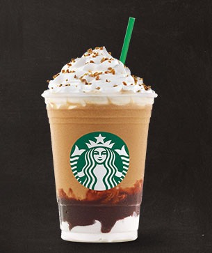 For the s'mores frappe you're gonna need ice, coffee, milk, marshmallow creme, chocolate syrup, cool whip, and graham crackers