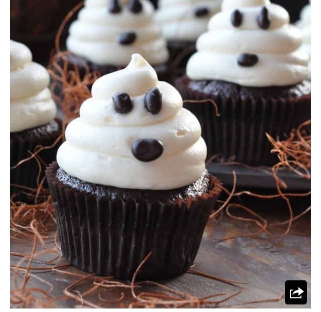 Cute ghost cupcakes everyone will love