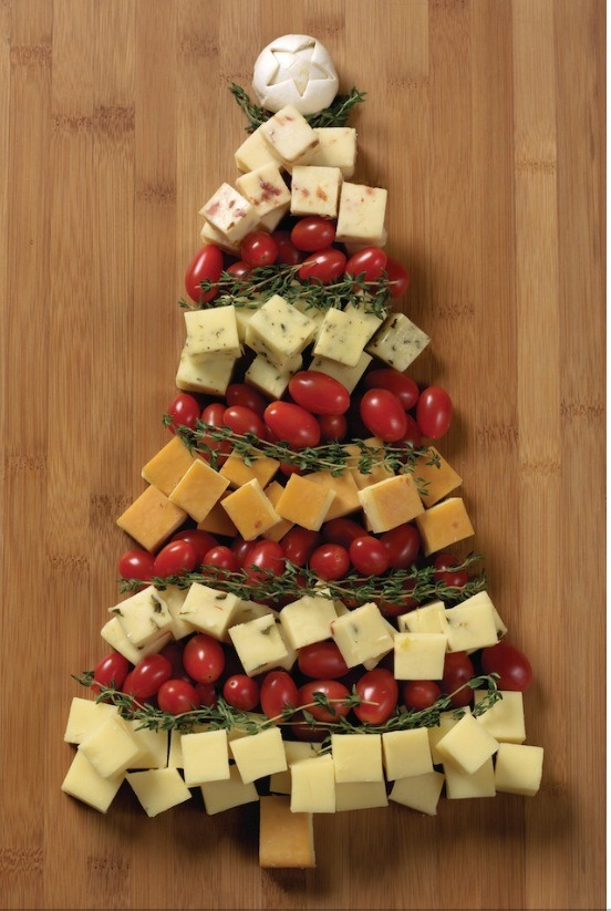 Cheese platter Christmas tree.