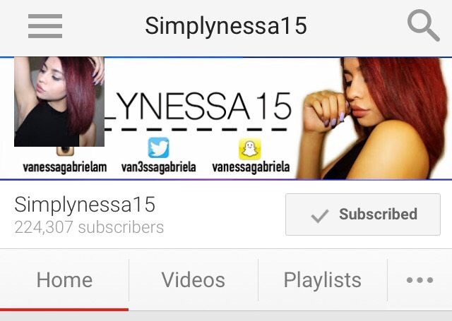 Simplynessa15 is my favorite person to watch on YouTube