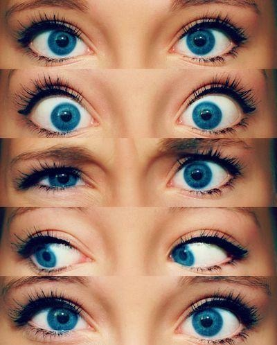 It doesn't take much makeup to make blue eyes pop, keep it short and simple.