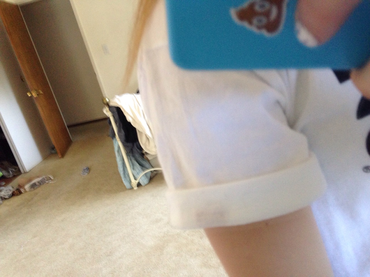 First role the sleeves up u can hold them there by sewing or even super glueing