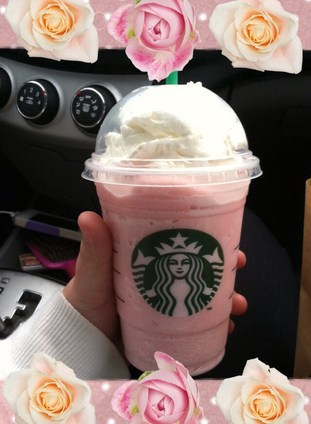 Vanilla bean frappucino 2 pumps of raspberry syrup Tastes like cotton candy!