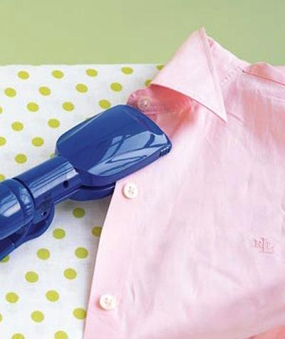 irons work most of the time, but what about for small hems, shirt straps or in between buttons? A hair straightener fits into these small spaces much easier. You can also use one to iron and flatten out crumpled up ribbon and cloth belts.
