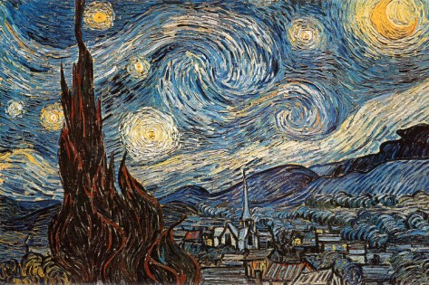 Buy some paintings/posters/wall art that give off that mystical vibe   Starry Night by Vincent Van Gogh