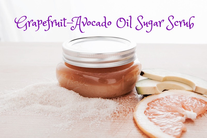 GRAPEFRUIT AVOCADO OIL SUGAR SCRUB |Grapefruit brings its free-radical fighting powers to this scrub that helps equalize your skin tone + bust everything from blemishes to wrinkles.  INGREDIENTS | (+) 1 cup sugar (+) 1/2 cup grapefruit, squeezed (+) 3 tbsp avocado oil