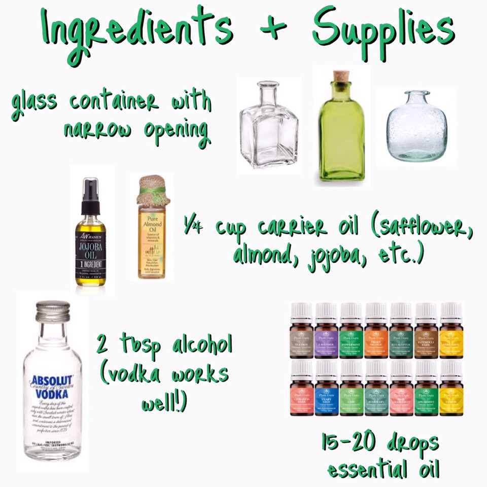 NOTE: You can use water instead of a carrier oil!