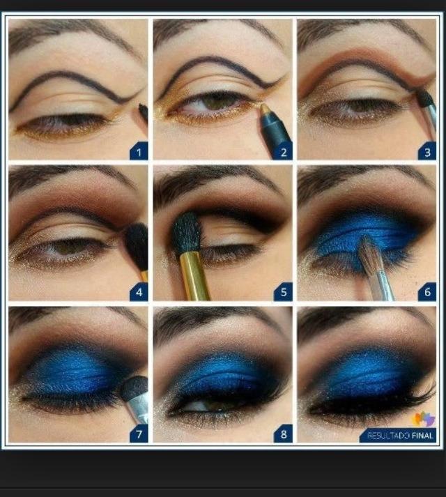 Dark Blue Eye Makeup By Farhana Patel Musely