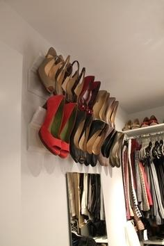 11. And use crown molding to conveniently store heels.