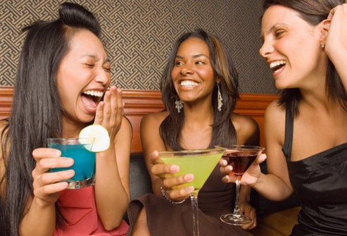MYTH: Hangovers Are Gender-Blind FACT: Don't go crazy with free drinks on Ladies' Night. If a man and woman drink the same amount, the woman is more likely to feel the effects. That's because men have a higher percentage of water in their bodies, which helps dilute the alcohol they drink.