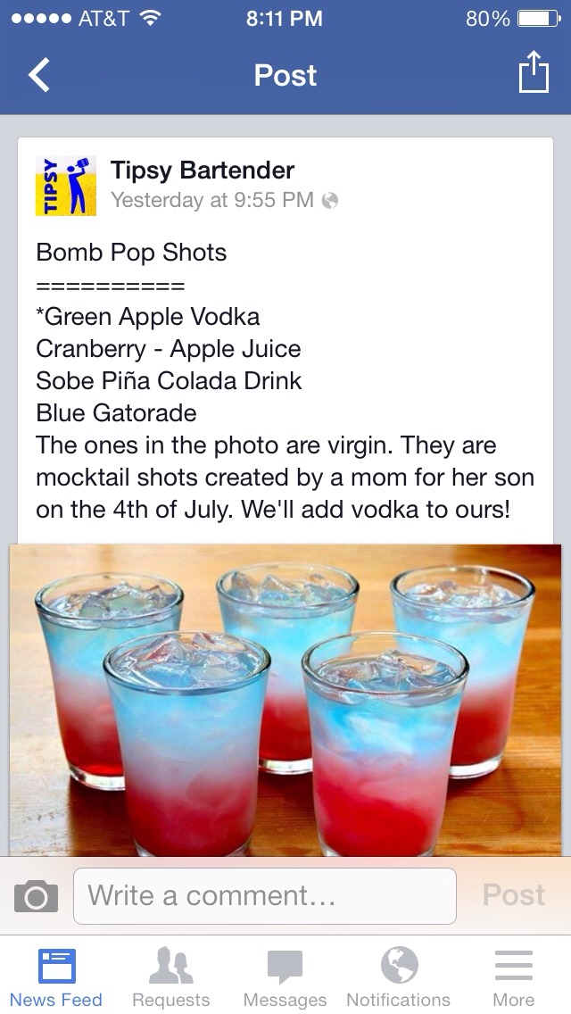 You can either do shots or regular size drink! I've heard these are pretty good!