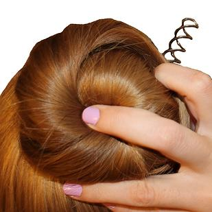 29. For the easiest, most secure buns ever, use spin pins instead of bobby pins. They're especially helpful if you have the kind of straight, slippery hair that requires dozens of bobby pins to secure.