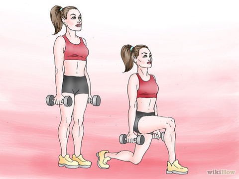 Do front and reverse lunges