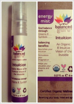 Balanced Guru's Intuition spray is my new must have before bed! If you're having trouble falling asleep or are feeling restless, this will be a life saver. It certainly helps me on my worst nights! The oil blend helps calm you and soothe you so you can peacefully fall asleep. 😊