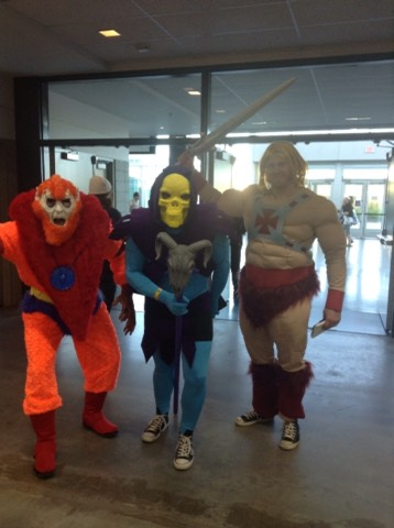 By the power of Greyskull! Super rad cosplaying! These dudes were one of the best squads there!