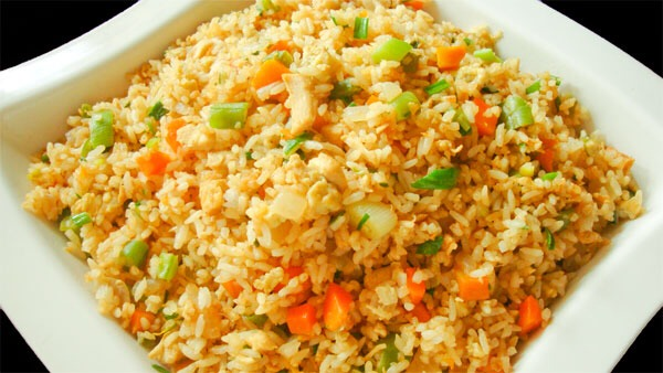 You could make fried rice with anything you want!! I usually use scallions, ginger, any type of meat, and egg.( my secret ingredient is ICEBERG LETTUCE because sometime the rice is too dry and adding water will make it soggy but by adding lettuce makes it not too dry or soggy