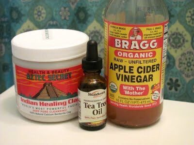 this is what i did i didnt get the jar bentonite i only had two dollars they sell em in lil packages if you only want a bit its amazing with acv nd tea tree oil it works   i got like a half a cup of clay two tbs of acv four drops of tea tree oil please make sure you dont use metal