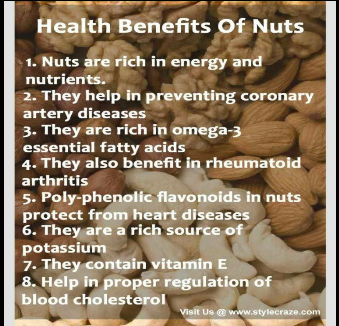 health benefits of eating nuts