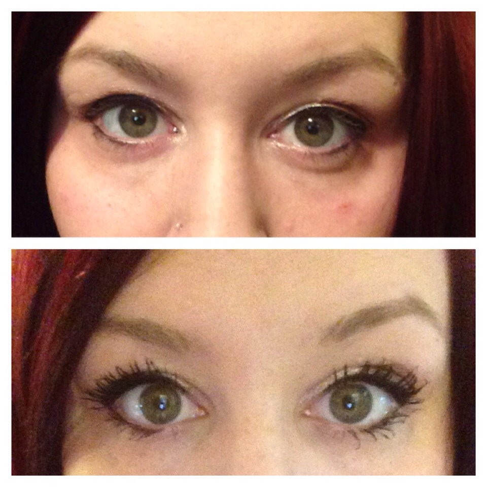 This is me. The top pic is me win regular mascara the bottom is the miracle worker! 3d mascara ! WANT IT? Go to next page