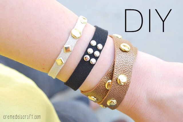 With so many different combinations of leather and studs, it's so easy to create a customized bracelet of your own. Follow the tutorial to learn how.