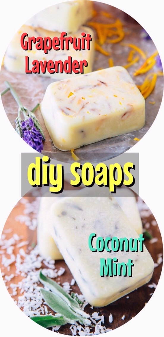 Grapefruit Lavender +Coconut Mint Soap|These are just sooo pretty, fun + full of good-for-you ingredients. They'rethe perfect treat for your skin, your nose, your peace of mind. The best part -they arecrazy easy to make +wouldn't they make the sweetest gifts wrapped up in linen +tied with baker's twine? They smell so good.  FROM |http://ahouseinthehills.com/2014/3/25/a-house-in-the-hills-home-ec-2/