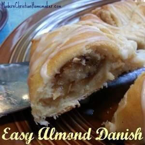 Easy Almond Danish: http://modernchristianhomemaker.com/easy-almond-danish/