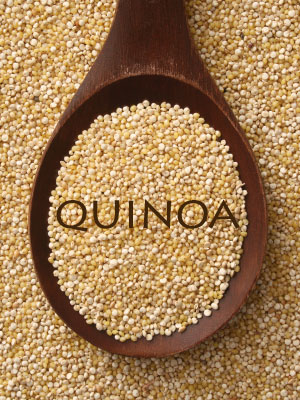QUINOA, a pseudo-grain, is a complete protein thats lower in carbohydrate but full of fibre. its also gluten free. Quinoa cooks in about 15 mins and can be easily exchanged for rice in many recipes. Rinse it before cooking to remove bitterness.