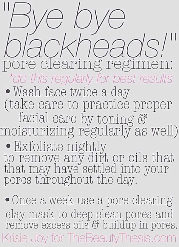 3. Although blackheads aren't a sign that your skin is dirty, it's still important to keep your face cleansed so that you don't clog your pores.