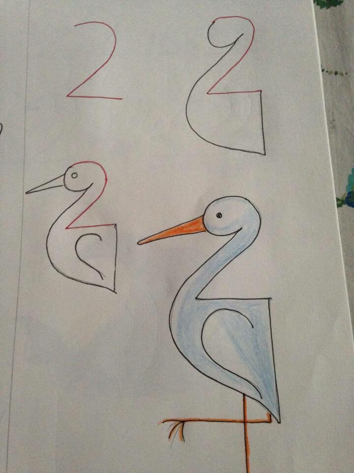 Super Easy Drawing Ideas For Kids With Numbers As Base Super