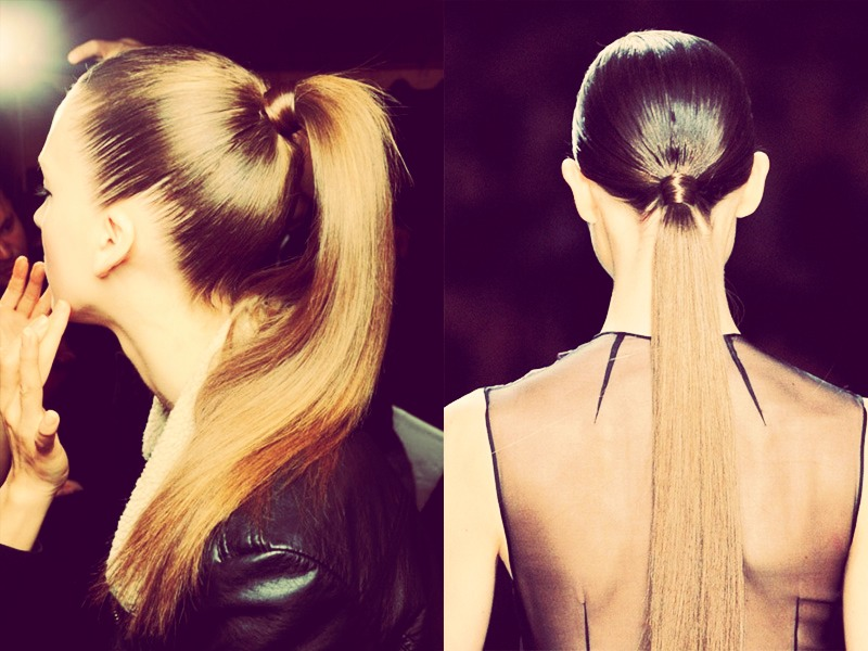 One way to get longer hair is put your hair in a tight ponytail 5 days a week (at night it you want) for a month!(: (results may vary)