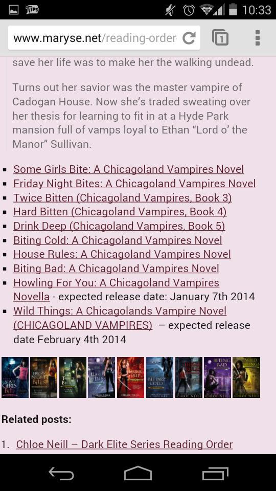 Chicagoland Vampire series