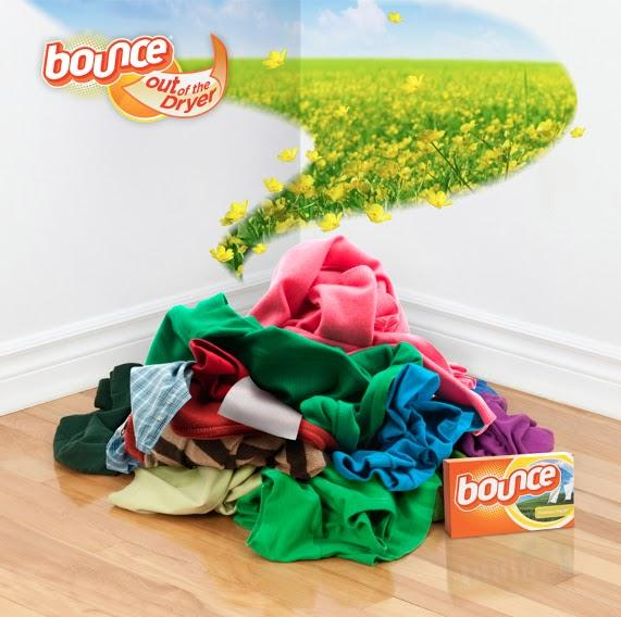Help keep dirty laundry smelling fresh by placing a Bounce sheet in your laundry bag or hamper