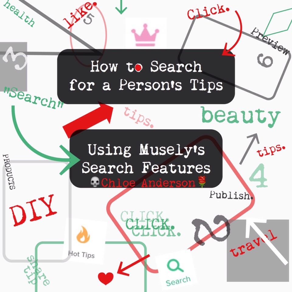"""This isn't for only findingmy (Chloe's) tips; this is for any user seeking any tipcategory (such as DIYs & Crafts, Beauty, etc.)or anyspecific tip (""""12 Ways to Cook a Turkey"""" or """"How to Change a Tire"""").  Also, I have an iPhone. I don't know if this app has a different look/set up on other phones."""