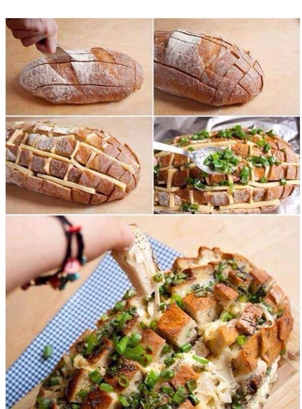 Bread with Herbs and Cheese (perfect for nights with friends!)