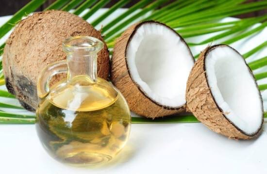 Fill up half a travel container with coconut oil