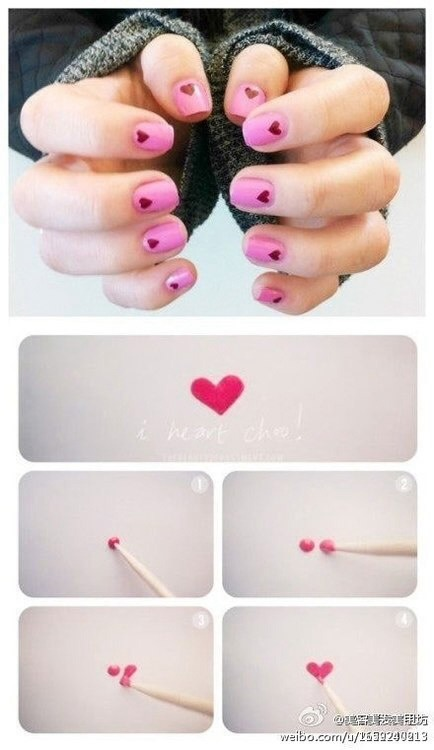 Here's a super easy way to do hearts, can get much easier than this! 😊