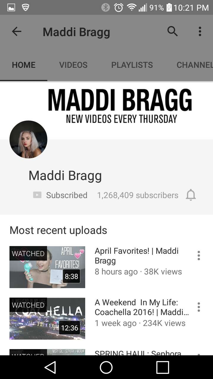 2. Maddi Bragg -beauty this girl puts so much effort into all her videos and her aesthetic is soooo pleasing.