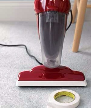 Masking Tape as Scuff Preventor Keep baseboards free of skid marks when you vacuum. Cover the edges of the vacuum head with masking tape so they won't leave dark smudges when you inevitably bump into the walls. There will be no more black marks on your cleaning record.