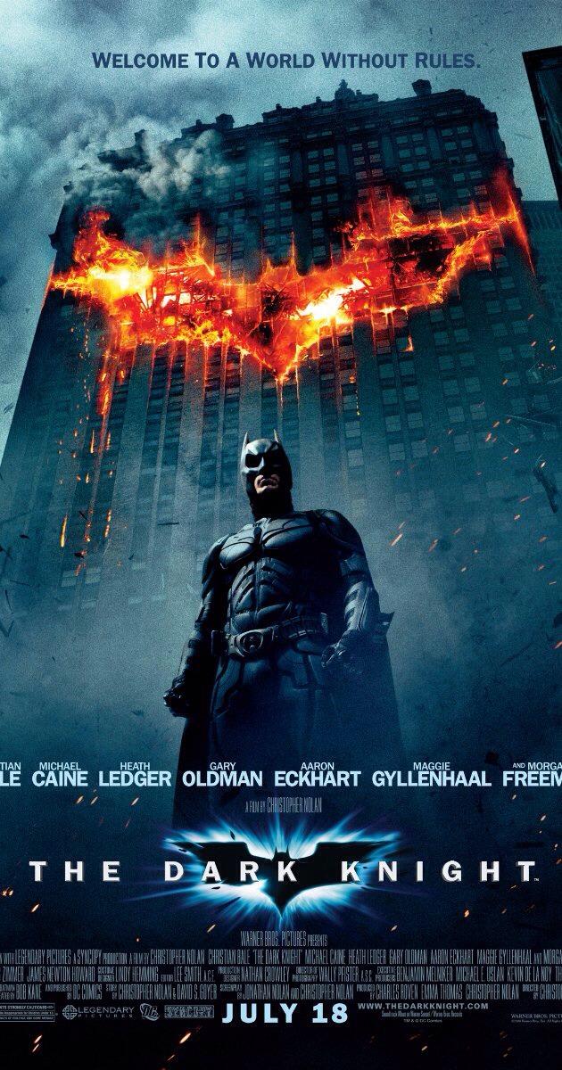 The Dark Night, 2008 American-British superhero thriller starring Morgan Freeman, Michael Caine, Gary Oldman, Heath Ledger and Christian Bale. Awesome movie 😝 I loved it!!!